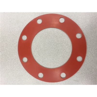 "GASKET 4 150# RED RUBBER 1/8"" THICK"